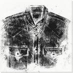 Ink Pressed Shirt Menswear 1 Wrapped Canvas Giclee Print Wall Art