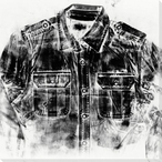 Ink Pressed Shirt Menswear 2 Wrapped Canvas Giclee Print Wall Art