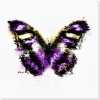 Inked Butterfly 7 Wrapped Canvas Giclee Print Wall Art