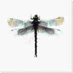 Inked Dragonfly 2 Wrapped Canvas Giclee Print Wall Art