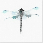 Inked Dragonfly 3 Wrapped Canvas Giclee Print Wall Art