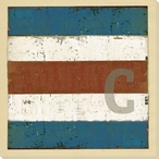 Intl. Maritime Signal Flag C Wrapped Canvas Giclee Print Wall Art