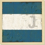 Intl. Maritime Signal Flag J Wrapped Canvas Giclee Print Wall Art