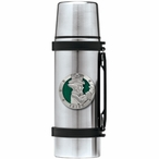 Irish Fighter Green Stainless Steel Thermos with Pewter Accent
