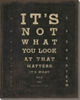 It's Not What You Look At... Saying Wrapped Canvas Giclee Print