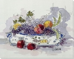 Italian Urn with Grapes and Apples Wrapped Canvas Giclee Print