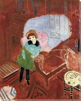 Ivan by the Armchair Wrapped Canvas Giclee Print Wall Art