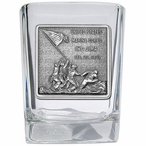 Iwo Jima Memorial Pewter Accent Shot Glasses, Set of 4