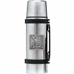 Iwo Jima Memorial Stainless Steel Thermos with Pewter Accent