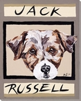 Jack Russell Dog Wrapped Canvas Giclee Print Wall Art