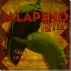 Jalapeno Pepper Wrapped Canvas Giclee Print Wall Art