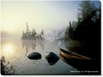 Journey Home Canoe Photographic Print Wrapped Canvas Giclee Print