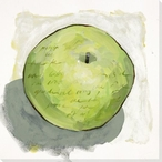 Juicy Green Apple Wrapped Canvas Giclee Print Wall Art