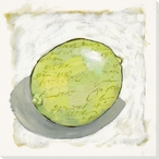 Juicy Lime Wrapped Canvas Giclee Print Wall Art