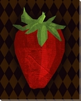 Juicy Strawberry Wrapped Canvas Giclee Print Wall Art