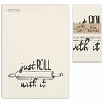 Just Roll with It Cotton Tea Towels, Set of 4