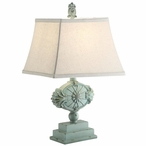 Kaleen Resin Table Lamp with Linen Shade