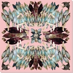 Kaleidoscope Pink Assorted Birds Wrapped Canvas Giclee Print Wall Art