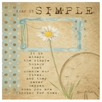Keep it Simple Absorbent Beverage Coasters by Grace Pullen, Set of 12
