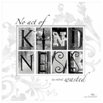 Kindness Absorbent Beverage Coasters by Jan Shade Beach, Set of 12