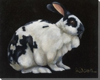 King Bunny Rabbit Wrapped Canvas Giclee Print Wall Art