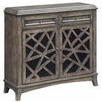 Kingsbury Crazy Cut 2 Door with 2 Drawer Wood Cabinet