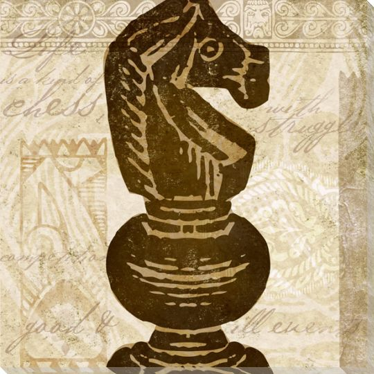 Knight Chess Piece Wrapped Canvas Giclee Print Wall Art ...