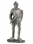 Knight with Ax and Shield Sculpture