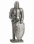 Knight with Sword and Shield Sculpture