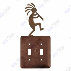 Kokopelli Double Toggle Metal Switch Plate Cover