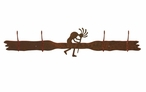 Kokopelli Four Hook Metal Wall Coat Rack