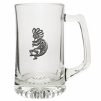 Kokopelli Glass Super Beer Mug with Pewter Accent
