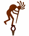 Kokopelli Large Single Metal Wall Hook