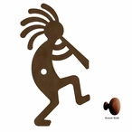 Kokopelli Metal Drawer Pull with Back Plate