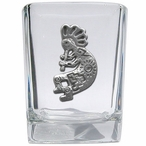 Kokopelli Pewter Accent Shot Glasses, Set of 4