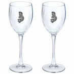 Kokopelli Pewter Accent Wine Glass Goblets, Set of 2