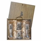 Kokopelli Pilsner Glasses & Beer Mugs Box Set with Pewter Accents