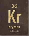 Krypton - Periodic Table of Elements Wrapped Canvas Giclee Print