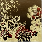 Kyoto Flower Garden I Wrapped Canvas Giclee Print Wall Art