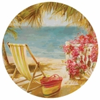 La Martinique Round Beverage Coasters by F. de Villeneuve, Set of 12