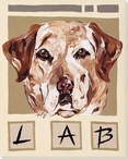 Lab Dog Wrapped Canvas Giclee Print Wall Art