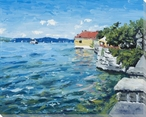 Lake Constance Scenic View Wrapped Canvas Giclee Print Wall Art