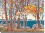 Lakeside Lace Scenery Wrapped Canvas Giclee Print Wall Art