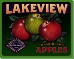 Lakeview Apples Wrapped Canvas Giclee Print Wall Art