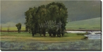 Lamar Just After Rain Tree Scene Wrapped Canvas Giclee Print