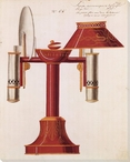 Lamp No. 65 Wrapped Canvas Giclee Print Wall Art