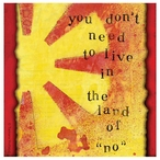 Land of No Absorbent Beverage Coasters by Tamara Holland, Set of 12