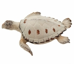 Large Beige Turtle Statue