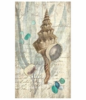 Large Classic Seashell Vintage Style Metal Sign