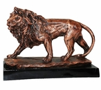 Large Copper Walking Lion Statue
